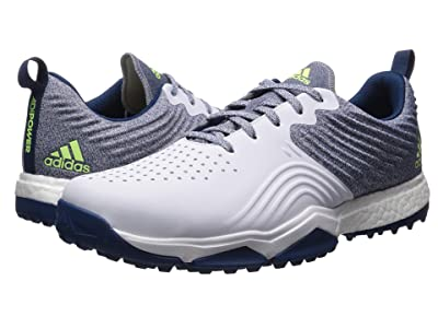 adidas Golf adiPower 4orged S Wide (Legend Marine/Footwear White/Hi-Res Yellow) Men