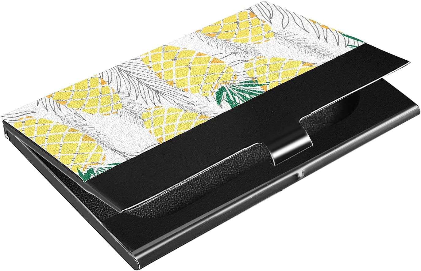 OTVEE Tropical Leaves and Pineapple Holder Wallet New York Under blast sales Mall Business Card