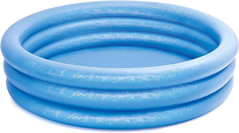 com-four® Piscina Infantil, Piscina Infantil de 3 Anillos en Azul con Parches de reparación, 168x38cm, Aprox. Piscina de 420 litros