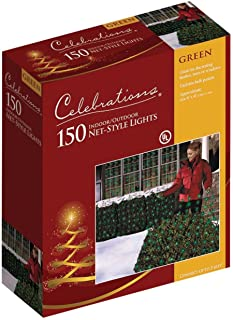 Celebrations 48957-71 Net Light Set, 4' L x 6' W, 150 Green Lights
