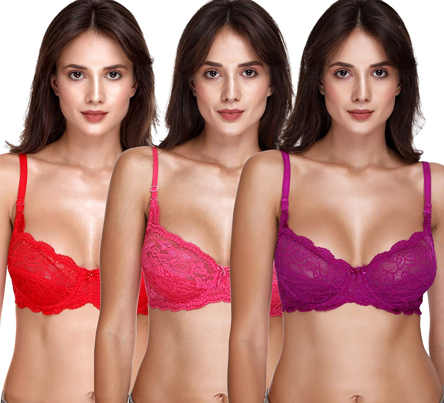 SONA Discount is also underway Women's Lace Max 72% OFF SL004 Full Bra Coverage Non-Padded