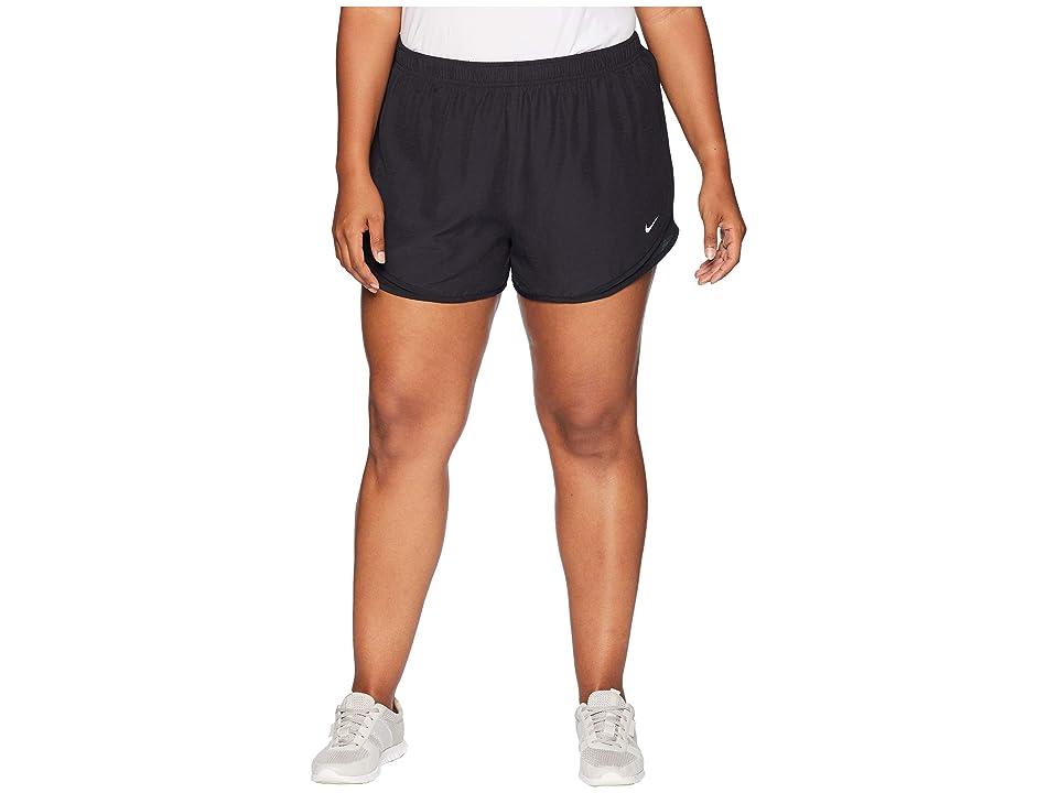 Nike Dry Tempo 3 Running Short (Size 1X-3X) (Black/Black/Wolf Grey) Women