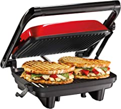 Hamilton Beach Electric Panini Press Grill With Locking Lid, Opens 180 Degrees For Any..