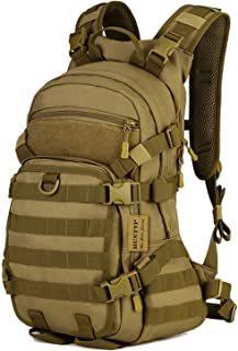 Huntvp 25L Tactical MOLLE Assault Military Backpack Rucksack Sport Casual Outdoor Gear for Hunting Trekking Travel Cycling Camping with Hydration Bladder Pocket
