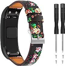 Junboer Vivosmart HR Replacement Bands Adjustable Leather Replacement Wrist Watch Strap Designed for Vivosmart HR Smart Sport Watch(NO for Vivosmart HR+)