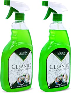 Pack of 2 Atlantic all purpose cleaning spray multipurpose surface disinfectant spray 750ml