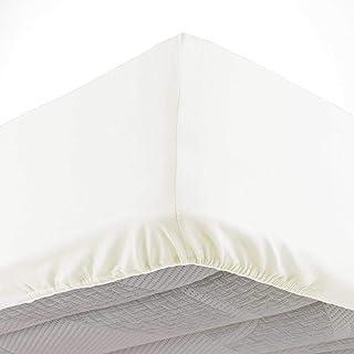 douceur d'intérieur 1642646 Drap Housse 2 Personnes, Coton, Naturel, 140 x 190 cm