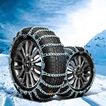 Car Wheel tire Snow Chain Car Snow Chain Anti-Slip Tire Chain Winter General Emergency Chain Suitable for Most Automotive SUV Trucks Car Anti-Skid Emergency Snow Tyre Chains (Size : 2355R17)