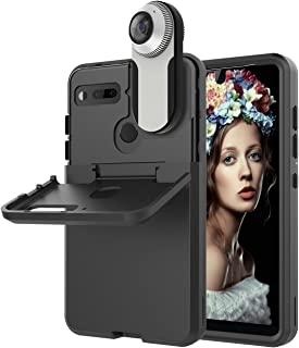 Essential PH-1 Case, Dexnor Three Layer Hybrid Rugged 3 in 1 TPU Bumper & Hard PC Dual Layer Cover Protective Shock Absorption Defender Bumper for Grils Men Women Compatible with 360 Camera - Black