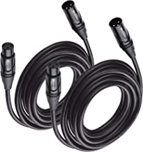 Cable Matters 2-Pack Premium XLR to XLR Microphone Cable 15 Feet