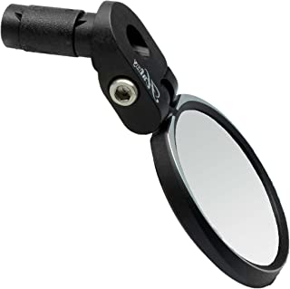 Hafny Bar End Bike Mirror, HD, Blast-Resistant, Glass Mirror, HF- MR090