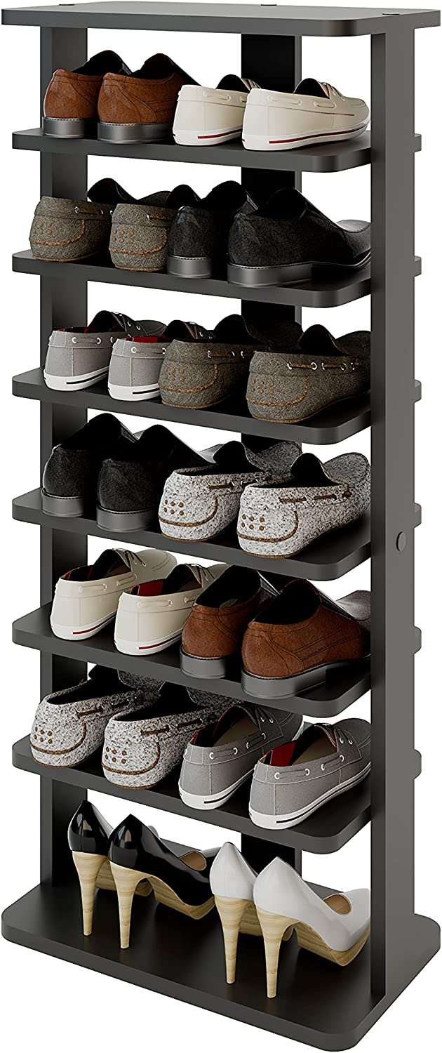 Modeazy 7 デポー Tiers Multi Function Wooden Vertical Rack バースデー 記念日 ギフト 贈物 お勧め 通販 R Shoe