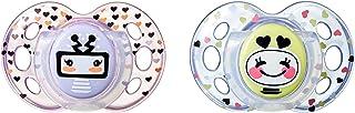 Tommee Tippee Closer to Nature - Chupetes, 2 unidades, diseño Fun, para 18-36 meses, Modelos  / Colores Surtidos