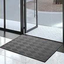 Durable Rubber Door Mat for Indoor Outdoor, 35x59Inch, Non-Slip, Waterproof, Easy Clean, Low-Profile, Commercial Large Doormats for Entry, Patio, High Traffic, Garage