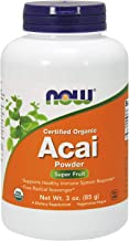 NOW Supplements, Certified Organic Acai Powder, Super Fruit with Phytonutrients, 3-Ounce