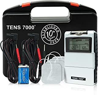 TENS 7000 Digital TENS Unit With Accessories - TENS Unit Muscle Stimulator For Back Pain, General Pain Relief, Neck Pain, ...