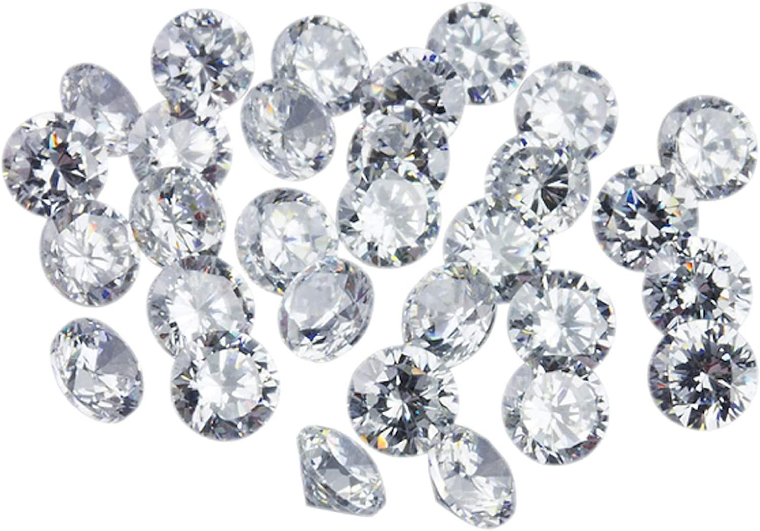 Jaz77 - Round 6 mm White Cubic 10 Quality Lot Lo AA Attention brand pcs Zirconia New Shipping Free