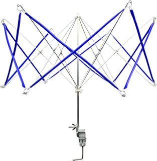 Umbrella Yarn Swift - Hand Operated Knitting Winder Tools, Wool String Ball Winder Holder Machine, Metal Hank Yarn Swift (Blue)(17 x 19 x 21 Inches)