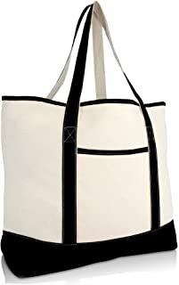 """22"""" Open Top Heavy Duty Deluxe Tote Bag with Outer Pocket"""