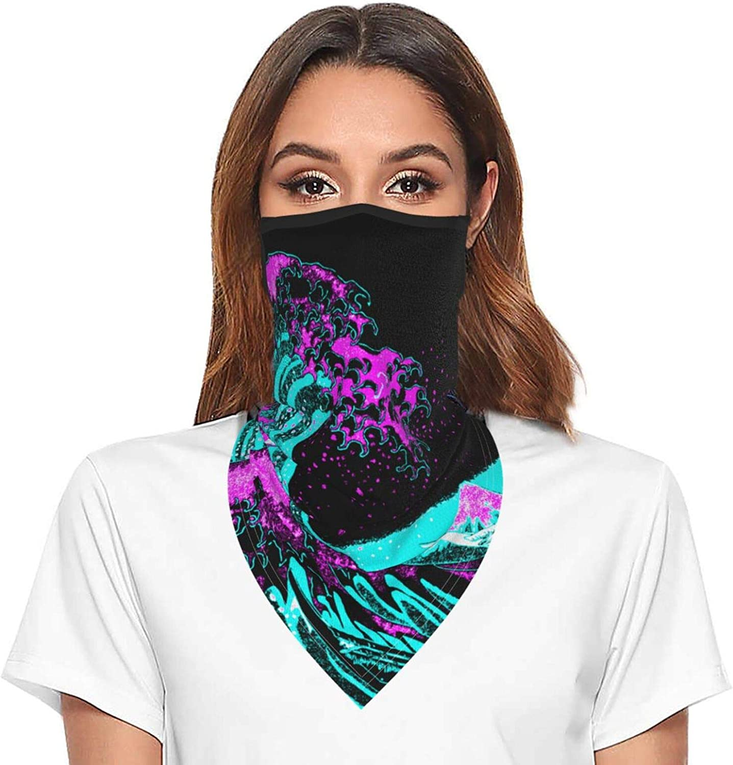Great Wave Off Kanagawa Neck Gaiter Face Mask With Ear Loops Outdoor Breathable Scarf For Men Women