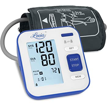 Blood Pressure Monitor - Automatic Upper Arm Machine & Digital Adjustable Digital BP Cuff Kit, Pulse Rate Monitoring Meter with Cuff 8.7-15.7inch,120 Sets Memory, Backlit Display