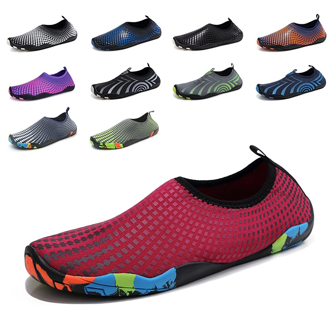 GUBARUN Mens Water Shoes Swim Shoes for Women Quick-Dry Beach Barefoot Surf Yoga Boat Sneakers
