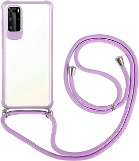 2ndSpring Funda con Cuerda Compatible con Samsung Galaxy S10e,Colgante Collar Correa de Cuello Cadena Cord/ón,Rose Gold