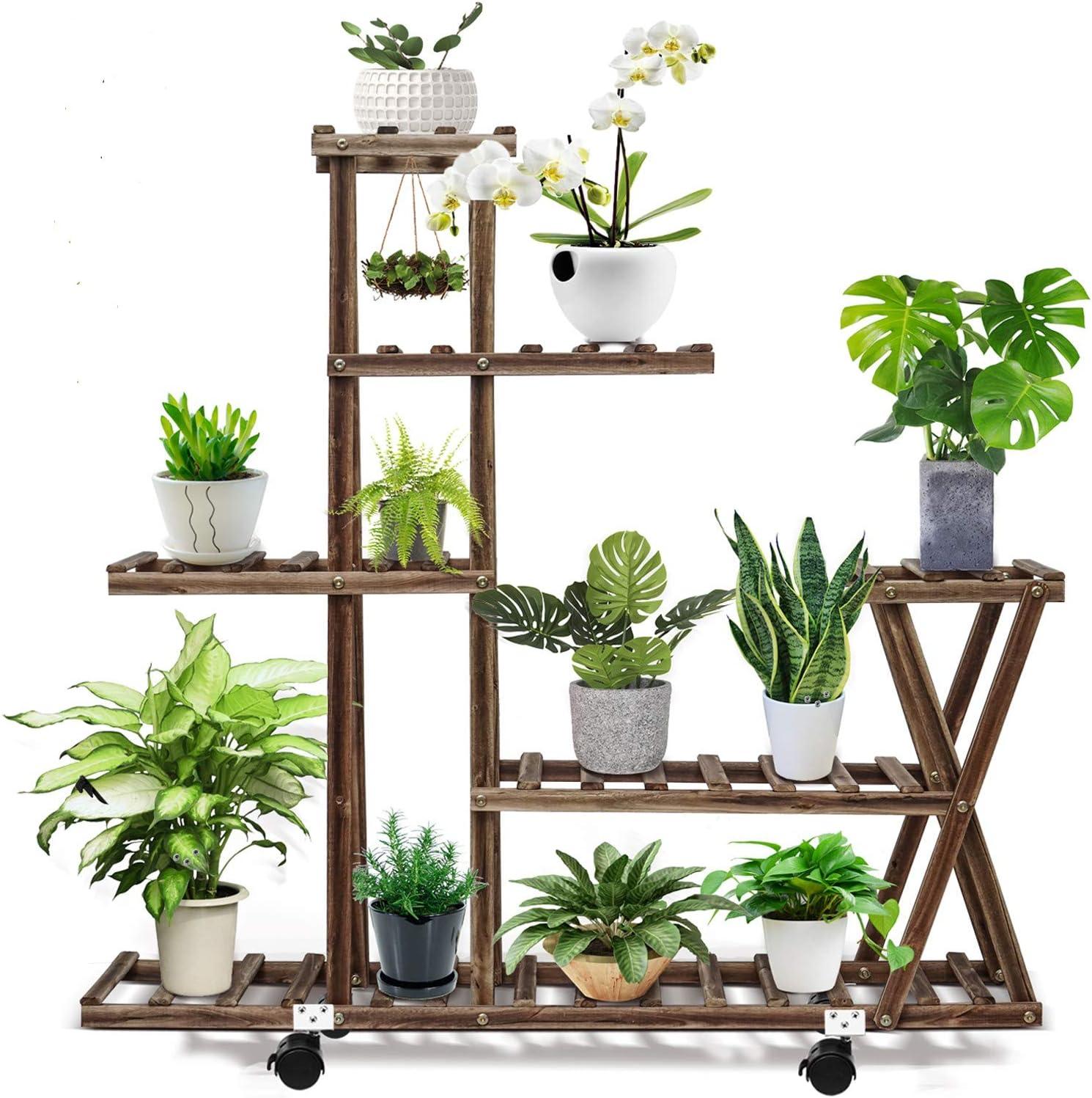 16+ cfmour Wood Plant Stand Indoor Outdoor, Plant Display Multi Tier Flower  Shelves Stands, Garden Plant Shelf Rack Holder in Corner Living Room  Balcony ... Bilder