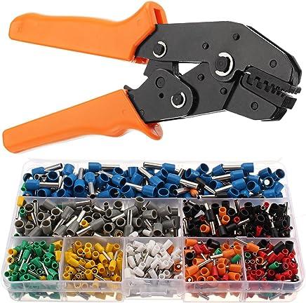 KUNSE Elektrische Ratsche Crimp Zange Werkzeug Werkzeug Werkzeug mit 800 Wire Stripperin Crimper Klemmensatz B07D79VJF4   In hohem Grade geschätzt und weit vertrautes herein und heraus  6f0250