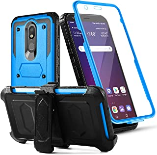 Toyouu for LG Aristo 4 Plus Case,LG Aristo 4 +/Neon Plus/Escape Plus/K30 2019/Journey LTE/Arena 2/Tribute Royal Phone Case,Built-in [Screen Protector] with Belt Clip[Kickstand] Holster,Blue