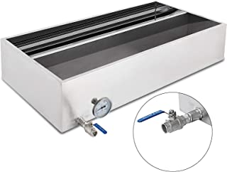 VBENLEM Maple Syrup Evaporator Pan 48x24x9.4 Inch Stainless Steel Maple Syrup Boiling Pan with Valve and Thermometer and Divided Pan