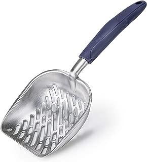 CO-Z Cat Litter Scoop Solid Aluminum Alloy Sifter Deep Shovel with Flexible Long Handle