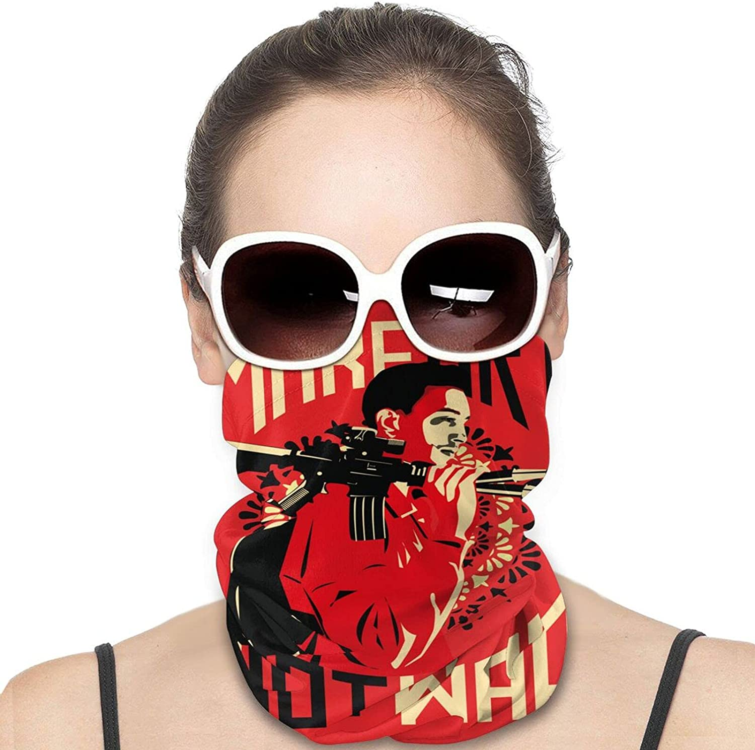 Make Art Not War Round Neck Gaiter Bandnas Face Cover Uv Protection Prevent bask in Ice Scarf Headbands Perfect for Motorcycle Cycling Running Festival Raves Outdoors