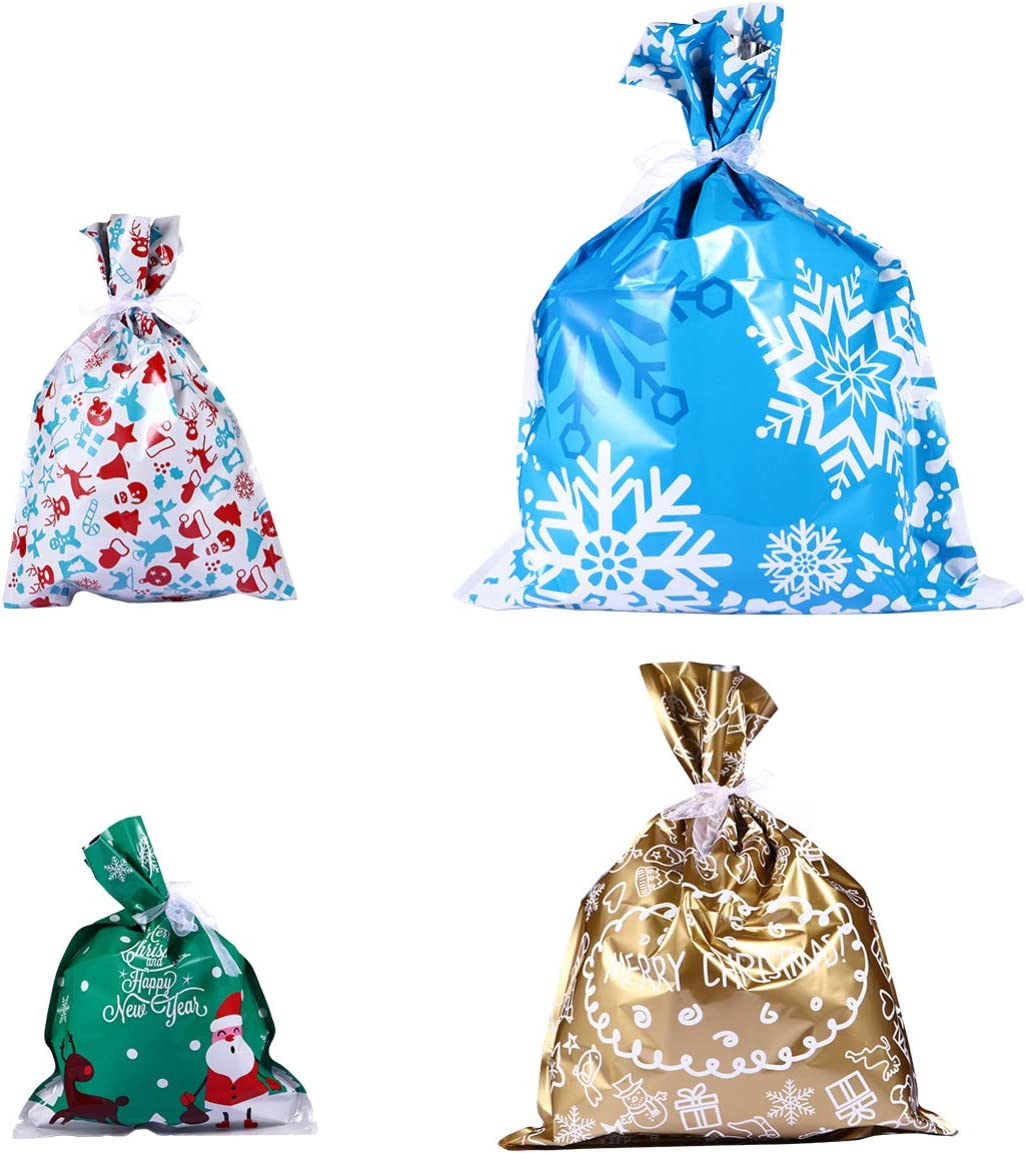 NUOBESTY 20pcs Fashionable Christmas Candy Sacks Sweets Xmas St Cookie Limited time sale