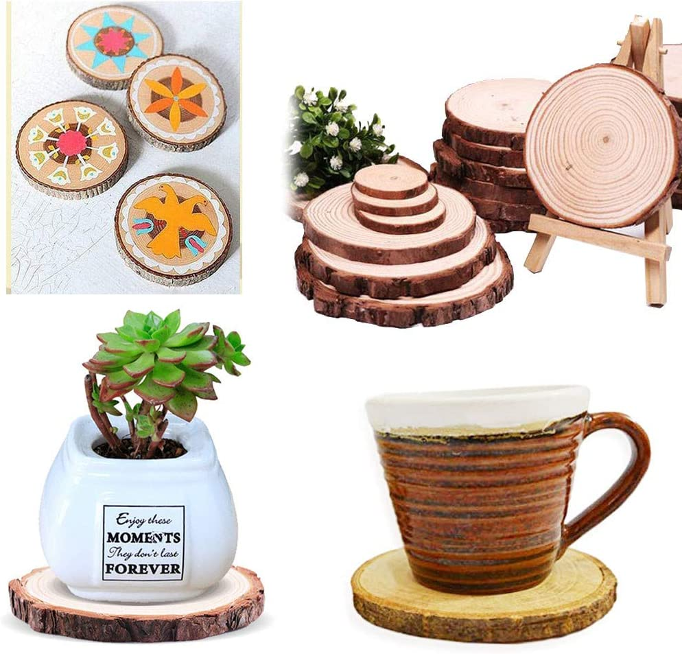 Wooden Coasters with Tree Bark - Louisville-Jefferson County Mall Cup SEAL limited product Finish Smooth Mug Glass fo