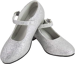 Gojoy shop- Zapato con Tacón de Danza Baile Flamenco o Sevillanas para Niña y Mujer, 5 Colores Disponibles