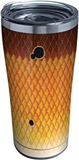 Tervis 1313685 Redfish Pattern Stainless Steel Insulated Tumbler with Clear and Black Hammer Lid, 20oz, Silver