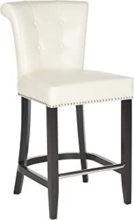 Safavieh Hudson Collection Addo Ring Counter Stool, Flat Cream and Espresso