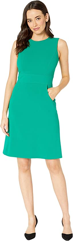 Solid Sheath Dress with Pockets
