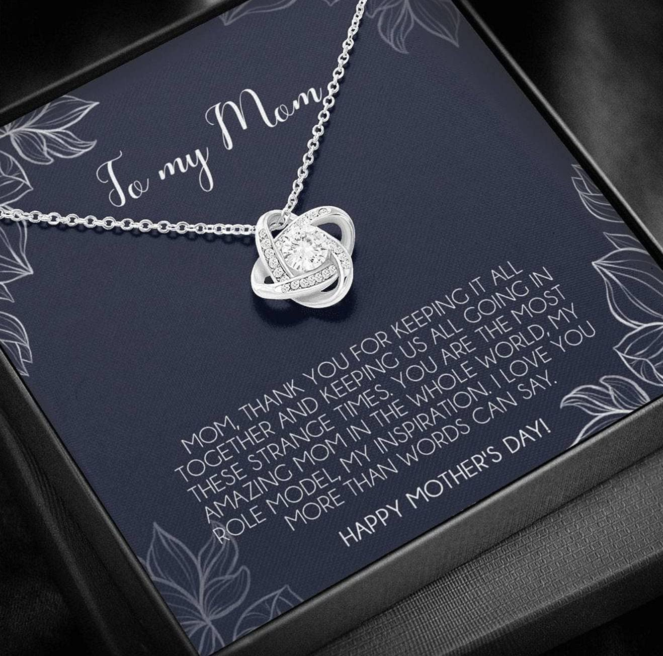 Personalized Jewelry Gift - Forever Love Necklace, Quarantine Mother's Day Gift From Son, Love Knot Necklace, Quarantine Mothers Day Gift From Daughter, Long Distance Mom Gift From Son