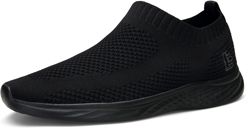 Escort Runners East Lander Walking shoes for Men and Women Flyknit Slip-on Sneakers Light Athletic shoes SPT003-U2-45,Black2,14 B(M) US Women 12 D(M) US Men
