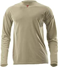 product image for National Safety Apparel DRIFIRE Lightweight Flame Resistant 5.4 Oz. Desert Sand Long Sleeve T-Shirt