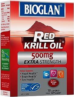 Red Krill Oil by Bioglan Extra Strength 500mg Capsules x 30