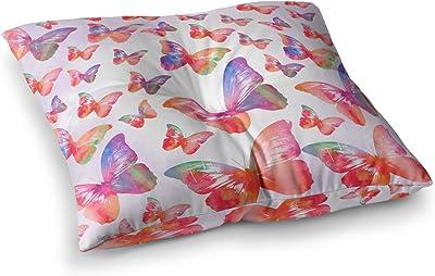 Kess InHouse Li Zamperini Light Mandala Lavender Pink Watercolor 26 x 26 Square Floor Pillow