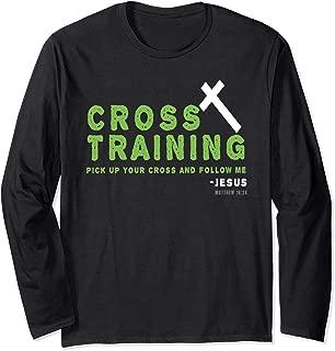 Christian Cross Training Running Bible Design Long Sleeve T-Shirt