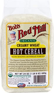 Bob's Red Mill Organic Creamy Wheat White Farina Hot Breakfast Cereal, 24 Oz (4 Pack)