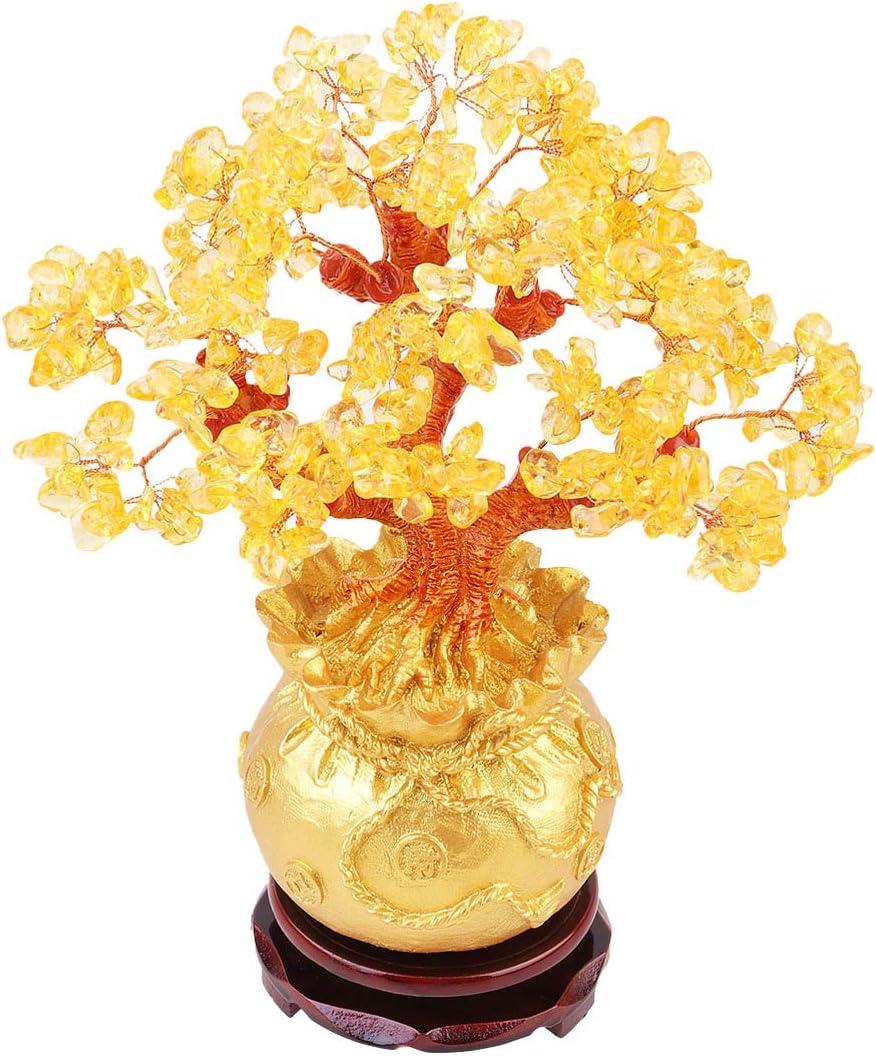 IMIKEYA Money Tree まとめ買い特価 Lucky Feng Ornament Desktop Bonsai Shui 売れ筋ランキング