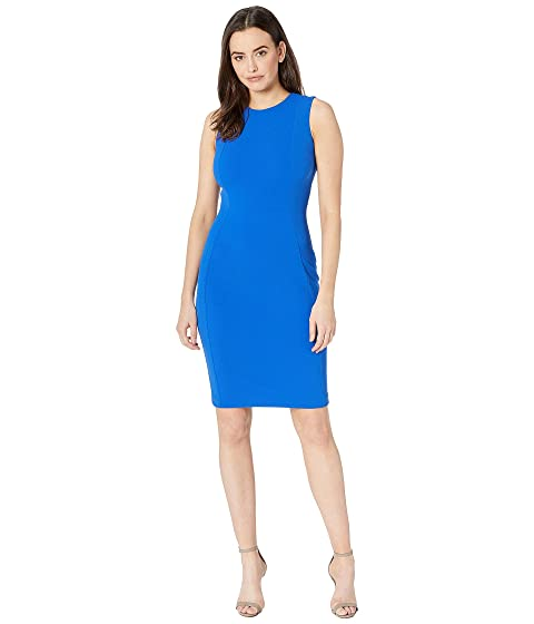 683ca546a60aff Calvin Klein Solid Sheath Dress CD9C1A00 at Zappos.com