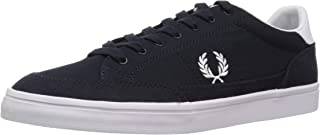 Fred Perry Men's Deuce Canvas Sneaker, Navy, 8 D UK (9 US) (B3118-608-8 D UK (9 US))