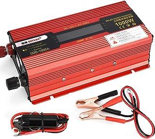 GBHJJ 1000 W spänningsomvandlare, Dc 12 V till AC 220 V bilkonverterare med LCD-skärm, med uttag och USB-växelriktare, anv...
